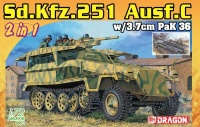 Sd.Kfz. 251 Ausf. C with 3,7cm PaK 36 - 2in1 - 1/72