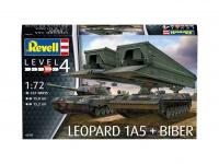 Leopard 1A5 & Brückenleger Biber - 1:72