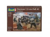 German 7,5 cm PaK40 & Soldiers - 1/72