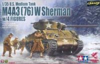 M4A3(76) W Sherman - US Medium Tank mit 4 Figuren - 1:35