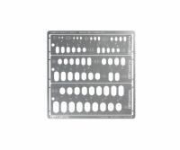 Gravur und Spritzschablone - Rechtecke, abgerundet -  1-6mm - Edelstahl - Fotogeätzt