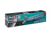 Gato-Class - US Navy Submarine - Platinum Edition - 1:72