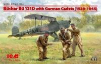 Bücker Bü 131D - Schulflugzeug mit Kadetten - 1:32