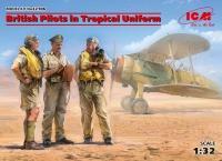 Britische Piloten in Tropen-Uniform - 1:32