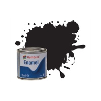 Black 033 - Humbrol - Flat - Enamel - 50ml