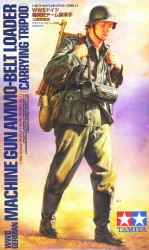 Deutsche Wehrmacht Infanterist - MG Munitionszuführer mit Dreibein 1:16