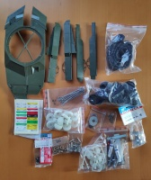 Leftover parts set from Tamiya Leopard 2A6 - 56020 - new parts - 1/16