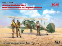 Gloster Gladiator Mk. I - WWII British Fighter with Pilots in Tropical Uniform - 1/32