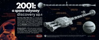 Discovery XD-1 - Nuclear powered deep space research Spacecraft - 2001: a space odyssey - 1/350