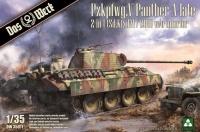 Panzerkampfwagen Panther Ausf. A - späte Produktion / Sd.Kfz. 267 Panzerbefehlswagen - 2in1 - 1:35