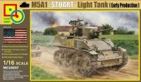 M5A1 - Stuart - US Light Tank - Early Version - 1/16