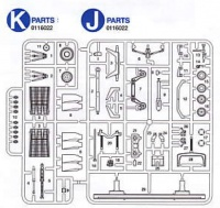K & J Parts for Tamiya 60315 - F-16CJ Block 50 - 1/32