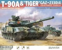T-90A Main Battle Tank & Tiger GAZ-233014 Armoured Vehicle - 1:48