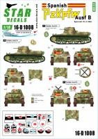 Panzer I - Ausf. B - Spanischer Bürgerkrieg - Abziehbilder Set - 1:16