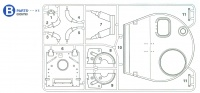 B-Parts (B1-B11) for Tamiya Tiger I (56010) 1:16