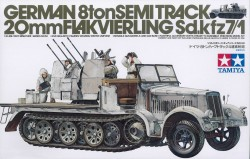 German 8ton Semi Track with 20mm Flakvierling - Sd.Kfz. 7/1 - 1/35