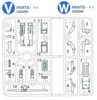 V/W-Parts (V1-V14, W1-W8) for Tamiya 56014 / 56016 / 56032 / 56037 / 56043