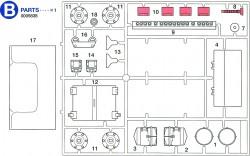 B Teile (B1-B18) für Tamiya Sherman Serie 56014 und 56032 1:16