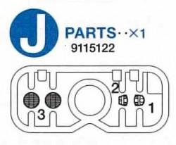 J Teile (J1-J3) für Tamiya 56014, 56016, 56032