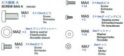 Schraubenbeutel A (MA1-MA7 für Tamiya Sherman (56014) 1:16