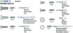 Screw Bag B (MB1-MB7) for Tamiya Sherman Serie 56014, 56032
