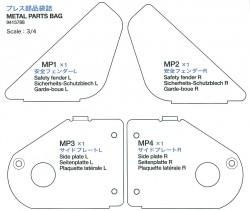 Metallteilebeutel (MP1-MP4) für Tamiya Sherman 56014 und 56032