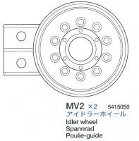 Spannrad (MV2 x1) für Tamiya Sherman Serie 56014, 56032