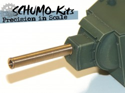 Brass barrel for Tamiya KVII Tank 1:48