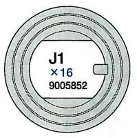 J1 Teile (J1x16) Laufrollengummi 1 für Tamiya 56022 und 56024