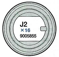 J2 Teile (J2x16) Laufrollengummi 2 für Tamiya 56022 und 56024