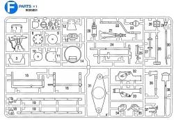 F Teile (F1-F38) für Tamiya Panther Serie (56022 und 56024) 1:16