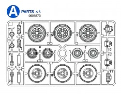 A Parts (A1-A11) for Tamiya M26 Pershing (56016) 1:16