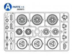 A Teile (A1-A11) für Tamiya M26 Pershing (56016) 1:16