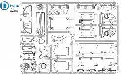 D Parts (D1-D32) for Tamiya M26 Pershing (56016) 1:16