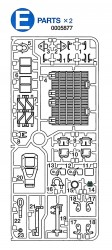 E Parts (E1-E23) for Tamiya M26 Pershing (56016) 1:16