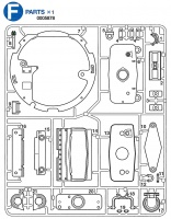 F Parts (F1-F22) for Tamiya M26 Pershing (56016) 1:16