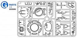 G Parts (G1-G31) for Tamiya M26 Pershing (56016) 1:16