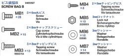 Screw Bag B (MB1-MB7) for Tamiya M26 Pershing (56016) 1:16