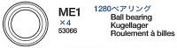 Kugellager (ME1 x3) für Tamiya M26 Pershing (56016) 1:16