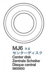 Center Disk (MJ6 x2) for Tamiya M26 Pershing (56016) 1:16