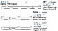 Schwingarmhalter A, B, C (MN1-MN3) für Tamiya 56016