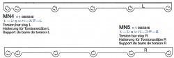 Torsion Bar Stay L & R (MN4-MN5) for Tamiya 56016