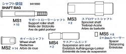 Lagerbeutel (MS1-MS5) für Tamiya M26 Pershing (56016) 1:16