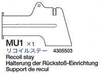 Recoil Stay (MU1) for Tamiya M26 Pershing (56016) 1:16