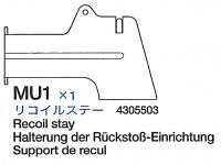 Halterung der Rückstoß Einheit (MU1) für Tamiya 56016 1:16