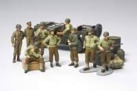 WWII US Infantry at Rest with Willys Jeep - 1/48