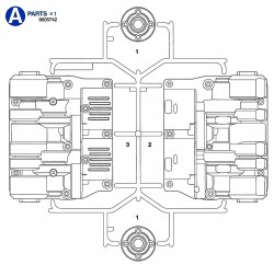 A Parts (A1-A3) for Tamiya Leopard 2A6 (56020) 1:16