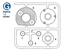 G Parts (G1-G6) for Tamiya Leopard 2A6 (56020) 1:16