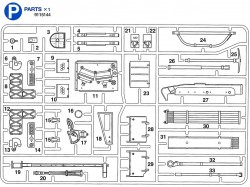 P Parts (P1-P33) for Tamiya Leopard 2A6 (56020) 1:16