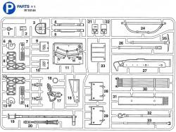 P Teile (P1-P33) für Tamiya Leopard 2A6 (56020) 1:16